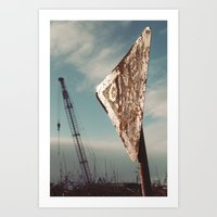 I Give Way To Cranes, Do… Art Print