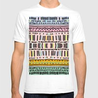 NAVAJO MOTIF  Mens Fitted Tee White SMALL