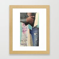 Ripped Jeans Framed Art Print
