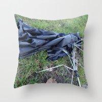 Umbrella Blues 3 Throw Pillow