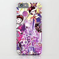 iPhone & iPod Case featuring The case of purple spot sickness by Nani Puspasari