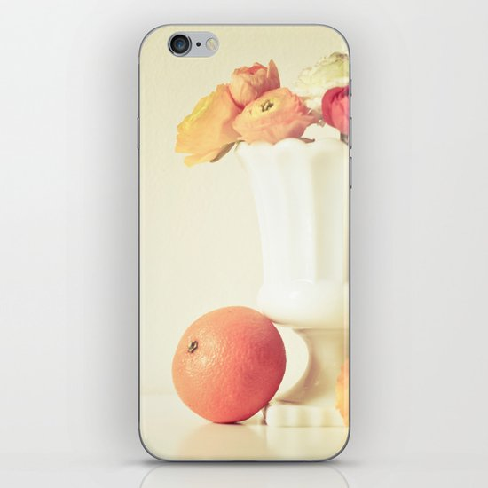 Milk Glass, Tangerine and Flowers iPhone & iPod Skin