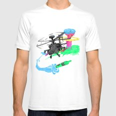 Art of War White SMALL Mens Fitted Tee