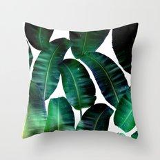 Cosmic Banana Leaves #society6 #decor #buyart Throw Pillow