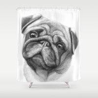The Pug G123 Shower Curtain