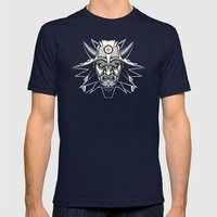 White Wolf Mens Fitted Tee Navy SMALL