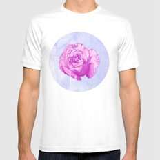 Rosa SMALL White Mens Fitted Tee