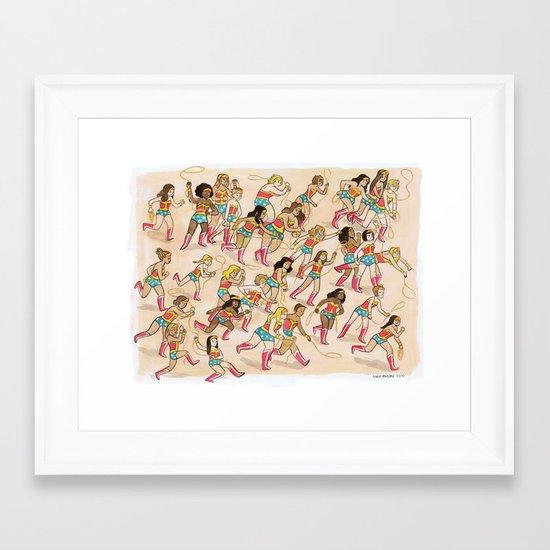 Wonder Women! Framed Art Print