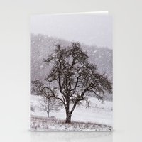 Old Pear Tree On A Winte… Stationery Cards