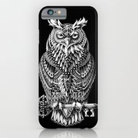 iPhone Cases featuring Great Horned Owl by BIOWORKZ
