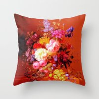Passion Fruits and Flowers Throw Pillow