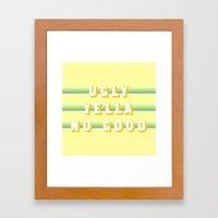 Home Alone (Rule of Threes) Framed Art Print