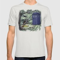 Escape From The Dark For… Mens Fitted Tee Silver SMALL