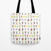 Mario Characters Watercolor  Tote Bag