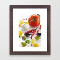 Pasta And Their Ingredie… Framed Art Print