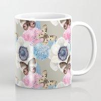 Vintage Flowers & Moths Mug