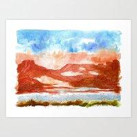 Topak Canyon Art Print