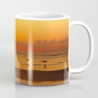 Four Pelican Sunrise Mug