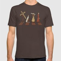 Stampede Mens Fitted Tee Brown SMALL