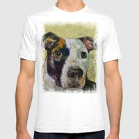 Pit Bull Mens Fitted Tee White SMALL