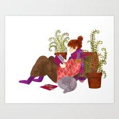 Reading Girl Art Print