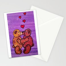 Bears in love Stationery Cards