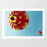 Up, Up And Away - Hot Ai… Art Print