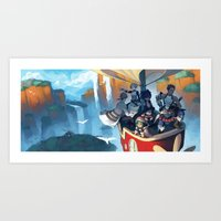 Above the Scarlet Pillars Art Print