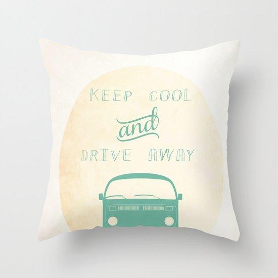 Keep cool & drive away Throw Pillow