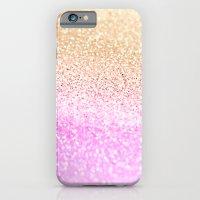 GOLD PINK GLITTER by Monika Strigel iPhone 6 Slim Case