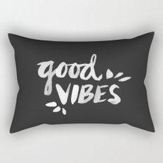 Good Vibes – White Ink Rectangular Pillow