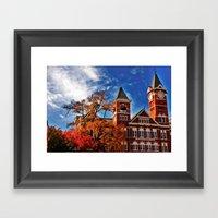 Samford Hall in the Fall Framed Art Print