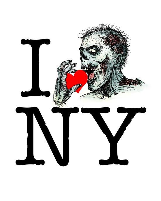I Zombie Apocalypse New York Art Print