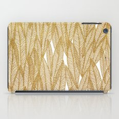 Gold & White Leaves iPad Case