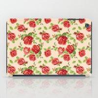 Rose pattern- cream iPad Case
