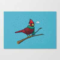Annoyed IL Birds: The Ca… Canvas Print