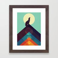 Howling Wild Wolf Framed Art Print