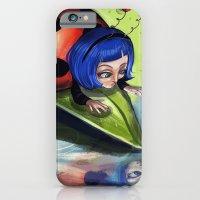 iPhone & iPod Case featuring Bug Girls: Curious Lady Bug by Danielle Feigenbaum