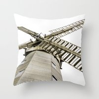 Upminster Windmill Throw Pillow