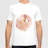 Cherry Bokeh Mens Fitted Tee White SMALL