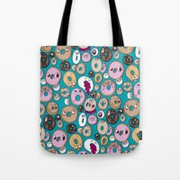 Donut Pattern Tote Bag