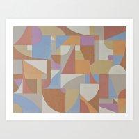 1 Inch Manila Grid Art Print