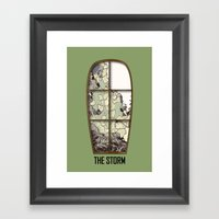 Windows The Storm Framed Art Print