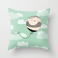 Balloon Man Throw Pillow