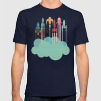 Grand Départ (graphic V… Mens Fitted Tee Navy SMALL