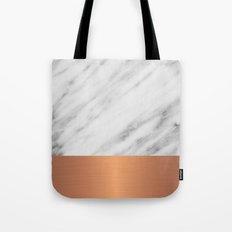 Carrara Italian Marble Holiday Rose Gold Edition Tote Bag