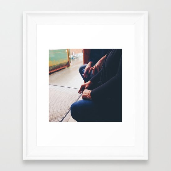 Smoking Break Framed Art Print