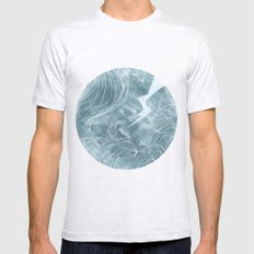 The Wave In A Bubble Mens Fitted Tee Ash Grey SMALL