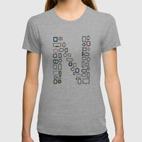 Letter N - Nailed Frames Womens Fitted Tee Athletic Grey SMALL
