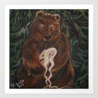 Bear & Maiden Art Print